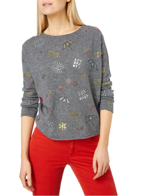 Princess Goes Hollywood Pullover mit Ziersteinbesatz Dunkelgrau - 1
