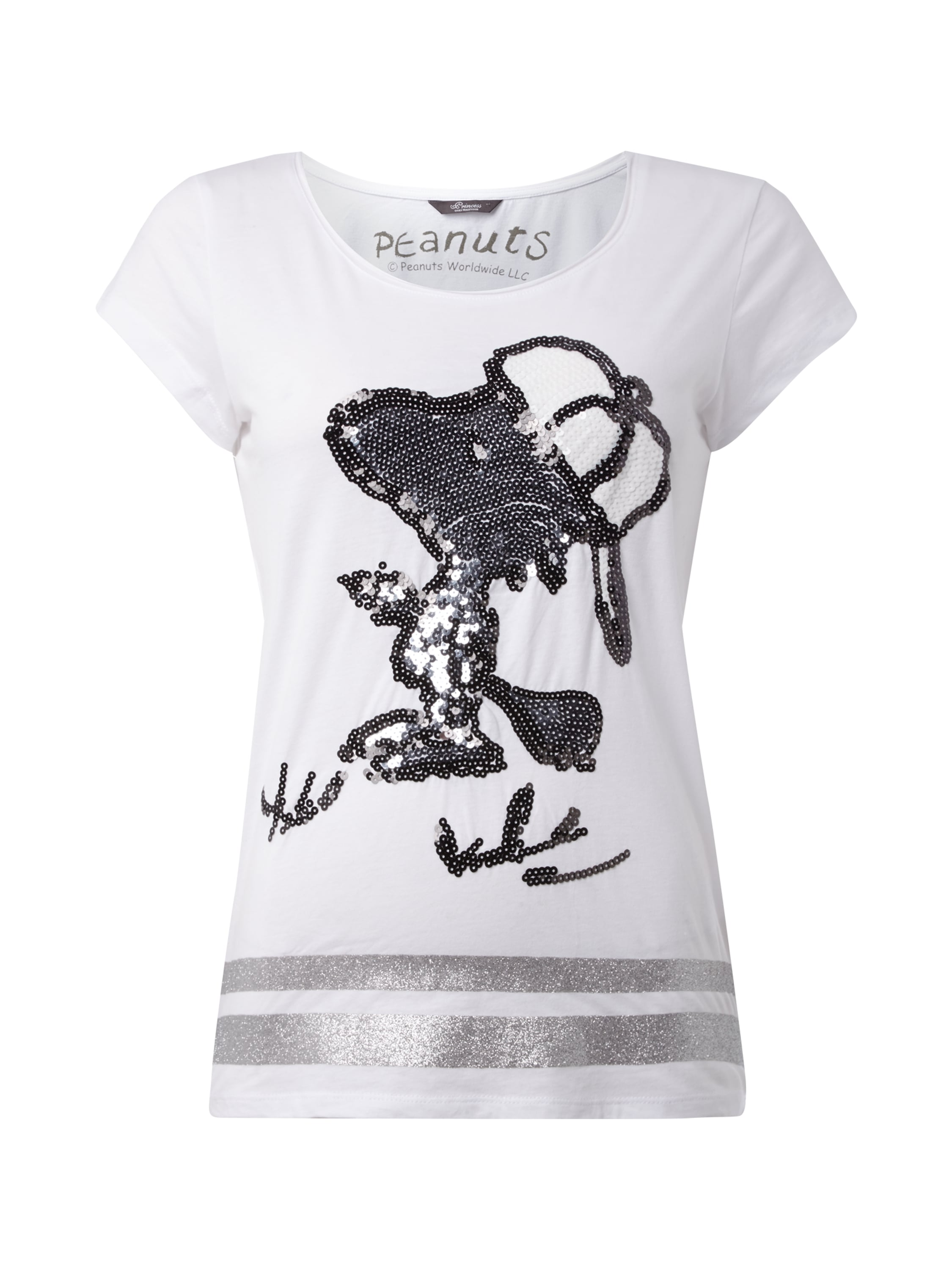 t shirt mit snoopy motiv aus pailletten fashion id. Black Bedroom Furniture Sets. Home Design Ideas