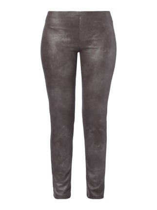 Leggings in Metallicoptik Grau / Schwarz - 1