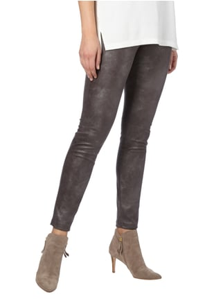 Raffaello Rossi Leggings in Metallicoptik Anthrazit - 1
