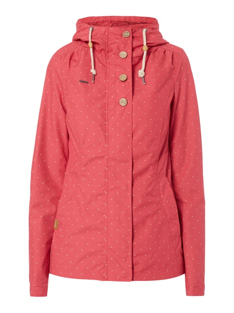 Jacke mit Punktemuster Rot - 1