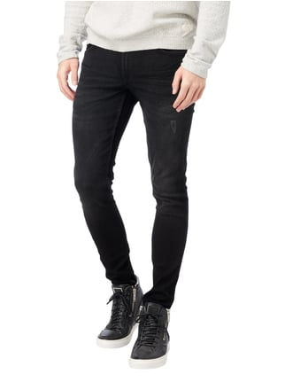 Redefined Rebel Skinny Fit 5-Pocket-Jeans Schwarz - 1