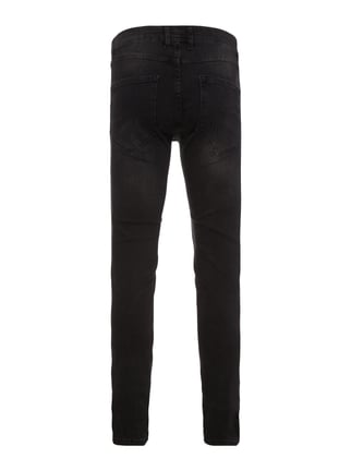 Redefined Rebel Slim Fit 5-Pocket-Jeans im Destroyed Look Schwarz - 1