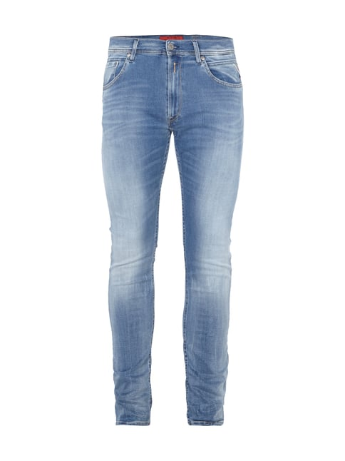 Double Stone Washed Jeans Blau / Türkis - 1