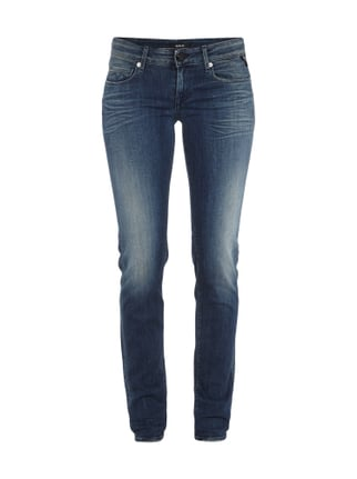 Stone Washed Jeans Blau / Türkis - 1