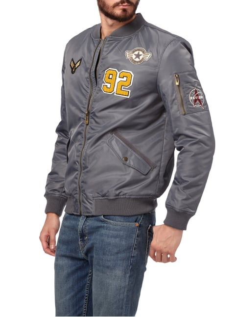 REVIEW Bomber mit Patches Graphit - 1