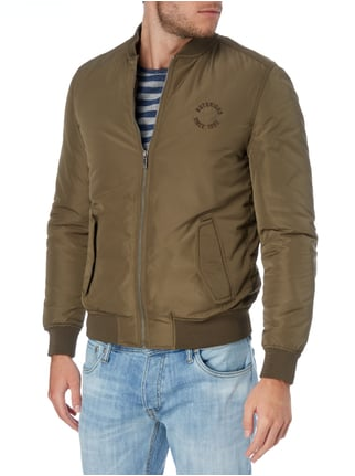 REVIEW Bomber mit Stickerei Khaki - 1