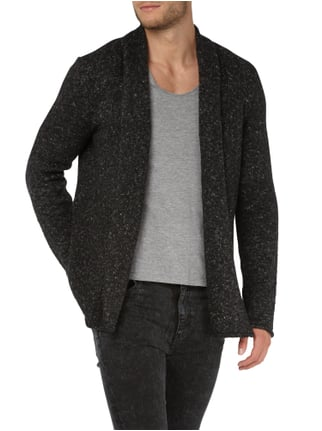 REVIEW Cardigan mit Schalkragen Anthrazit meliert - 1