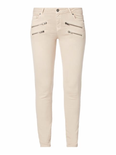 Coloured Skinny Fit 5-Pocket-Jeans Rosé - 1