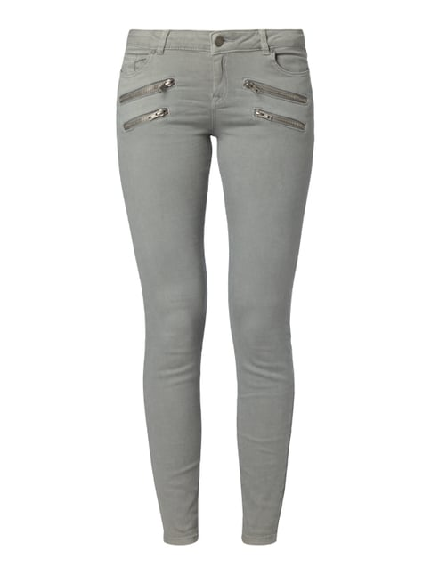 Coloured Skinny Fit 5-Pocket-Jeans Grün - 1