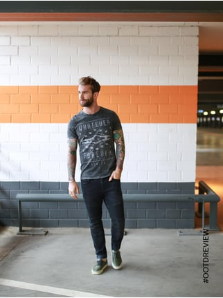 REVIEW Coloured Skinny Fit Jeans im Biker-Look Schwarz - 1