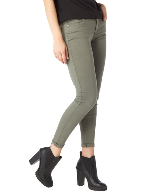 REVIEW Coloured Skinny Fit Jeans Olivgrün - 1
