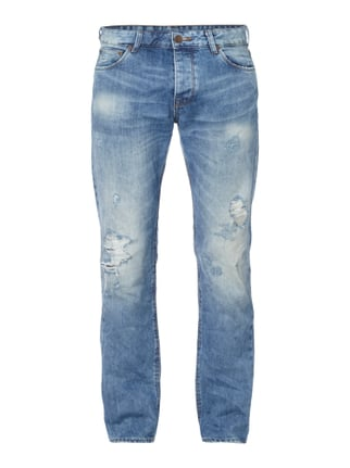 Destroyed Look Straight Fit 5-Pocket-Jeans Blau / Türkis - 1