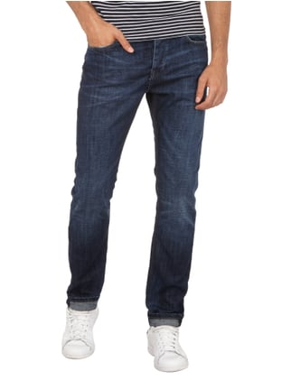 REVIEW Double Stone Washed Slim Fit Jeans Dunkelblau - 1