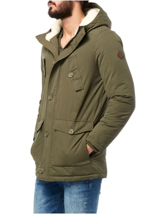 REVIEW Fieldjacket mit Teddyfutter - wattiert Olivgrün - 1
