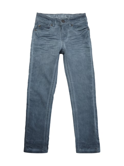 5-Pocket-Jeans im Sprayed-Look Blau / Türkis - 1