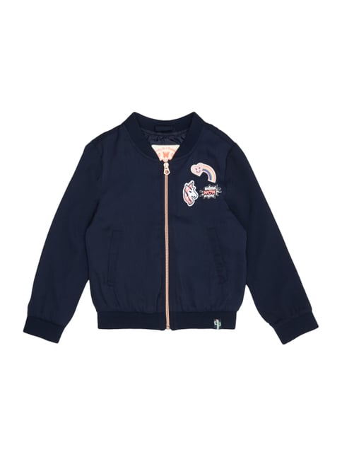 Bomber mit Patches Blau / Türkis - 1