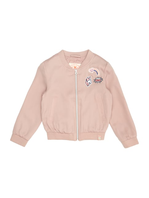 Bomber mit Patches Rosé - 1