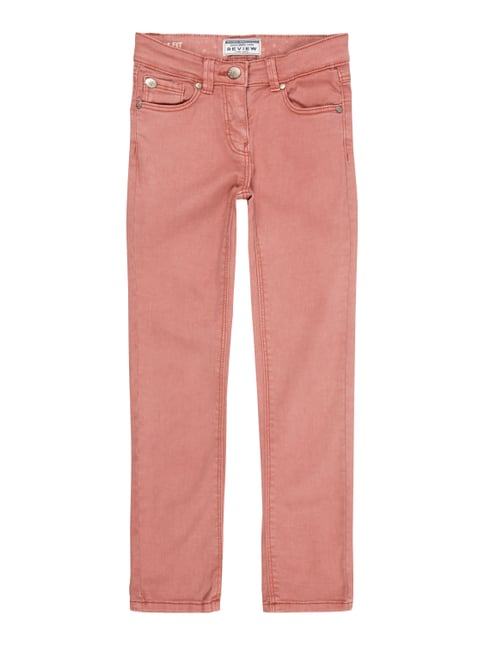 Coloured Slim Fit 5-Pocket-Jeans Rosé - 1