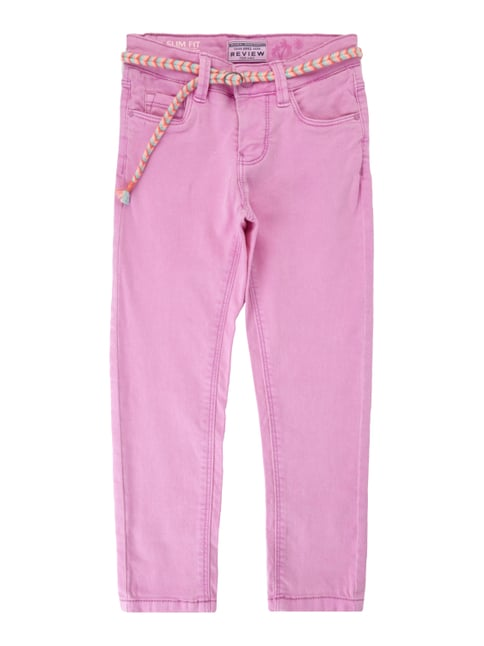 Coloured Slim Fit Jeans Lila - 1