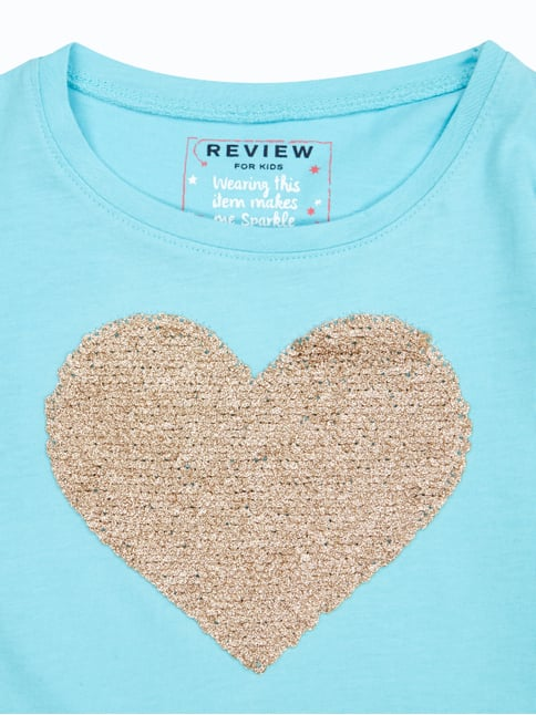 Longsleeve mit Motiv aus Pailletten Review for Kids online kaufen - 1