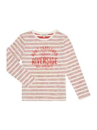 Longsleeve mit Streifenmuster im Inside-Out-Look Rot - 1