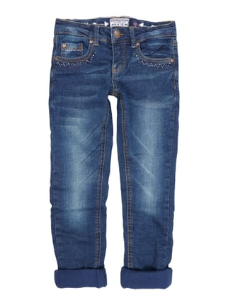 Regular Fit Jeans mit Fleecefutter Blau / Türkis - 1
