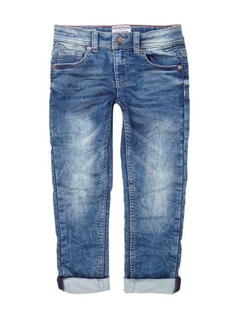 Regular Fit Stone Washed 5-Pocket-Jeans Blau / Türkis - 1