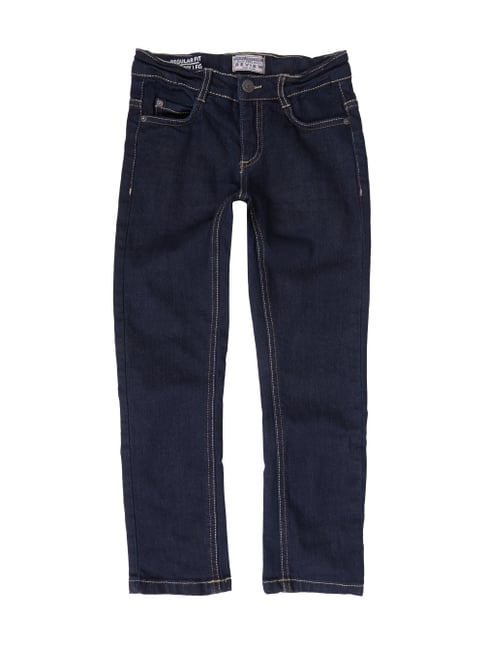Rinsed Washed Jeans im Slim Fit Blau / Türkis - 1