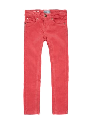 Slim Fit 5-Pocket-Cordhose mit Stretch-Anteil Rosé - 1