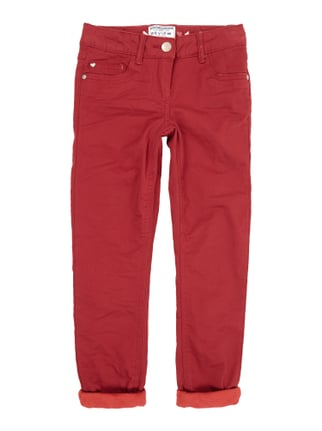 Slim Fit 5-Pocket-Hose mit Fleecefutter Rot - 1