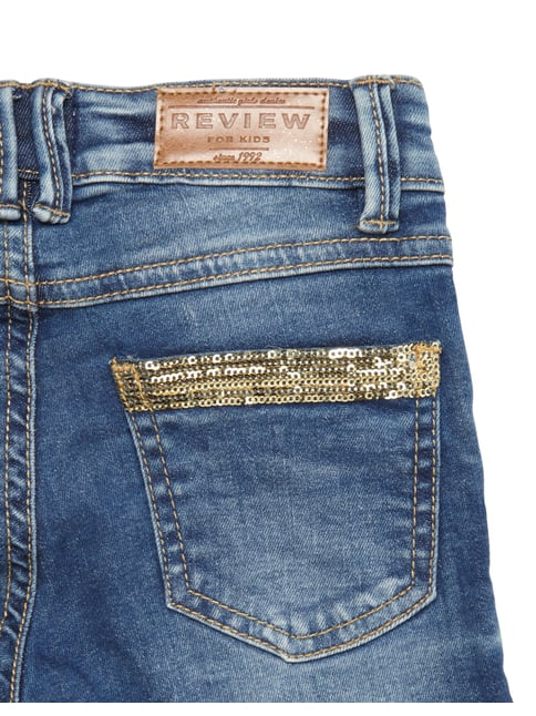 Slim Fit Jeans mit Pailletten-Besatz Review for Kids online kaufen - 1