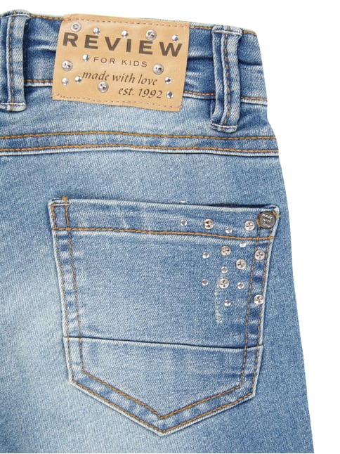 Stone Washed Slim Fit 5-Pocket-Jeans mit Nieten Review for Kids online kaufen - 1
