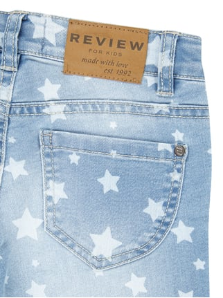 Stone Washed Slim Fit Jeans mit Sternen-Print Review for Kids online kaufen - 1