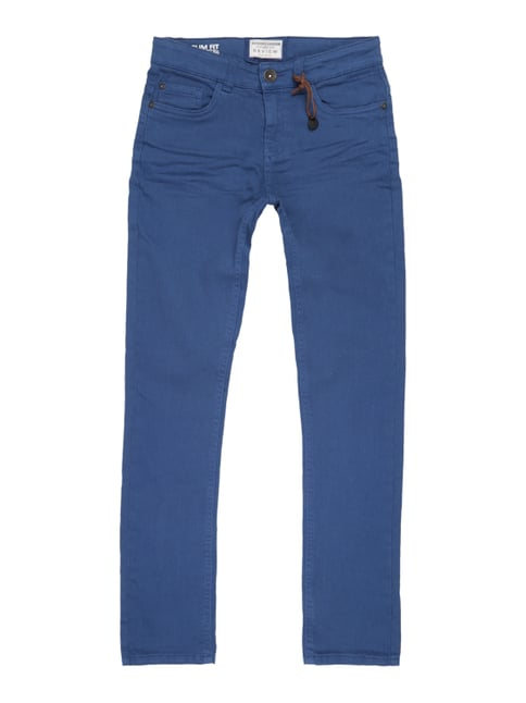 Coloured Slim Fit Jeans Blau / Türkis - 1