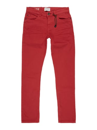 Coloured Slim Fit Jeans Rot - 1