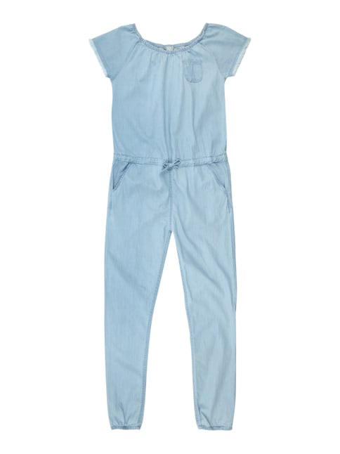 Jumpsuit in Denimoptik Blau / Türkis - 1