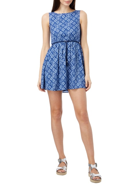 Review for Teens Kleid mit Ethno-Muster in Blau / Türkis - 1