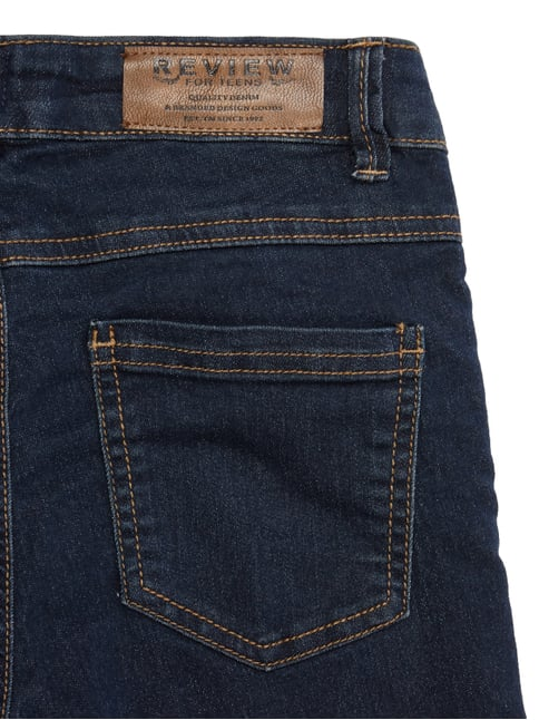 Rinsed Washed Slim Fit Jeans mit Gürtel Review for Teens online kaufen - 1