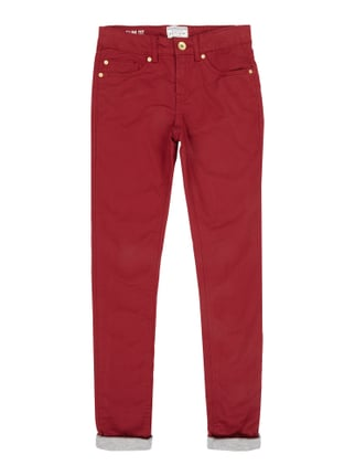 Slim Fit 5-Pocket-Hose mit Jerseyfutter Rot - 1