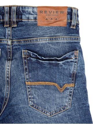 Slim Fit 5-Pocket-Jeans im Stone Washed-Look Review for Teens online kaufen - 1