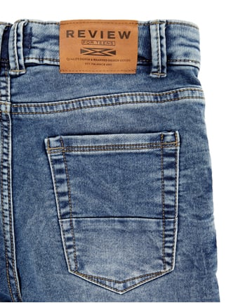 Stone Washed Slim Fit 5-Pocket-Jeans Review for Teens online kaufen - 1