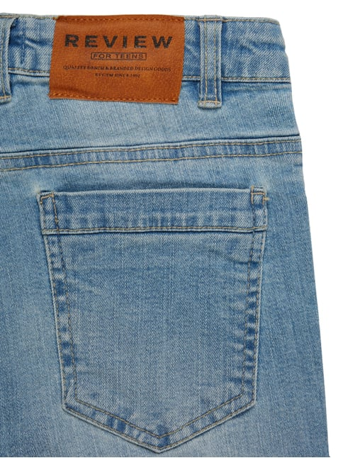 Stone Washed Slim Fit Jeans im Destroyed Look Review for Teens online kaufen - 1