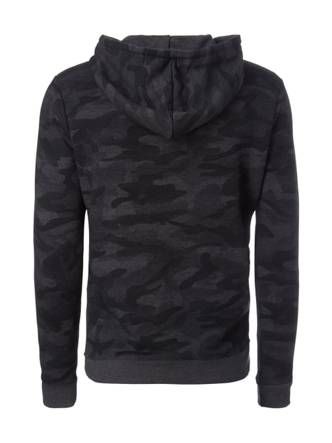REVIEW Hoodie mit Camouflage-Muster Anthrazit meliert - 1