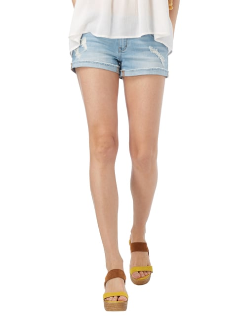 REVIEW Jeansshorts im Destroyed Look Hellblau - 1