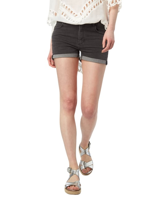 REVIEW Jeansshorts mit Stretch-Anteil Dunkelgrau - 1