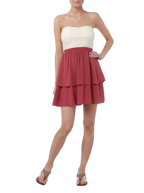 REVIEW Kleid im Double-Layer-Look in Rosé - 1