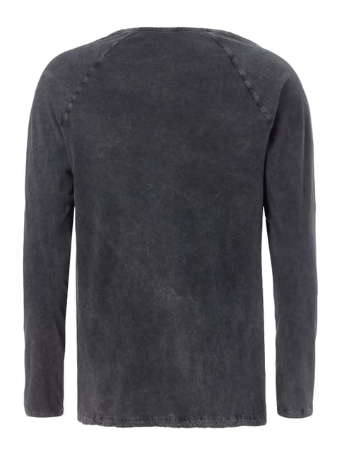 REVIEW Longsleeve im Washed Out Look Schwarz - 1