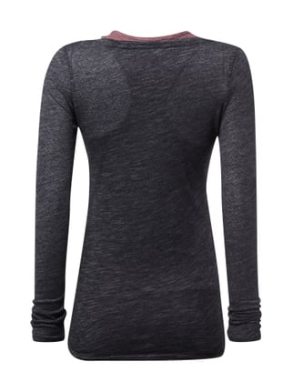 REVIEW Longsleeve mit separatem Untertop Anthrazit - 1