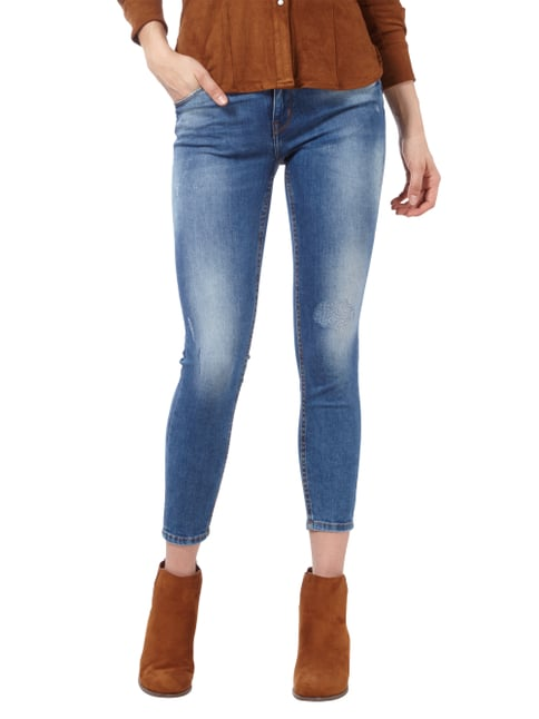 REVIEW Minnie Skinny Jeans im Used Look Jeans meliert - 1